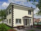 Проект индивидуального двухэтажного жилого дома с террасой